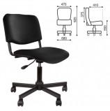 Кресло КР09, без подлокотников, кожзаменитель, черное, КР01.00.09-201-