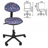 Кресло детское КР09Л, без подлокотников, синее с рисунком, КР01.00.09Л-111