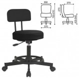 Кресло РС12, без подлокотников, кожзам, черное, РС01.00.12-201-