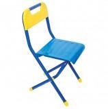 Стул детский ДЭМИ складной, 334х362х590 мм, синий/желтый, рост 3 (130-145 см), ССД.03
