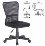 Кресло компактное BRABIX Smart MG-313, без подлокотников, черное