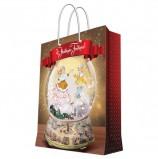 Пакет подарочный ламинированный, 40,6х48,9х19 см, 'Зимний шар', 157 г/м2, 78286
