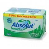 Мыло туалетное 300 г, ABSOLUT (Абсолют), комплект 4 шт. х 75 г, 'Алоэ', антибактериальное, 6065
