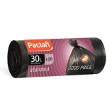 Мешки для мусора 30 л, черные, в рулоне 20 шт., ПНД, 7,3 мкм, 50х60 см, PACLAN 'Standard'