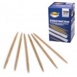 Зубочистки деревянные PATERRA / AVIORA, комплект 1000 шт., в индивидуальной бумажной упаковке, 401-610