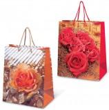 Пакет подарочный ламинированный, 26х32х15 см, 'Цветы'