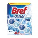 Освежитель WC (для туалета) твердый BREF, 50 г, (Бреф) Сила-Актив, 'Океанский Бриз'