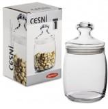 Банка с крышкой 'Cesni' для сыпучих продуктов, 1 шт., 940 мл, стекло, PASABAHCE, 97560
