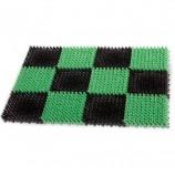Коврик входной пластиковый грязезащитный 'Травка', 55х41х1,8 см, зеленый-черный, IDEA, М 2280