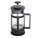 Заварник (френч-пресс) ЛАЙМА 'Утро', 350 мл, жаропрочное стекло/пластик, черный, 601354