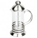 Заварник (френч-пресс) ЛАЙМА 'Элит', 350 мл, жаропрочное стекло/нержавеющая сталь + пластиковая ложка, 601367