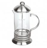 Заварник (френч-пресс) ЛАЙМА 'Элит', 1 л, жаропрочное стекло/нержавеющая сталь + пластиковая ложка, 601369