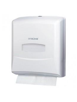 Диспенсер для полотенец ЛАЙМА PROFESSIONAL (Система H3), ZZ (V), белый, ABS-пластик, 601426