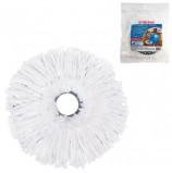 Насадка МОП круглая для швабры из набора для уборки, крепление кольцо, микрофибра, d-16 см, ЛАЙМА, 601488