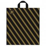 Пакет с петлевой ручкой ПВД, 42х38 см, 'Золотая полоса', 43 мкм