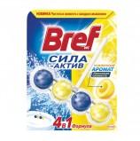 Освежитель WC (для туалета) твердый 50 г, BREF (Бреф) Сила-Актив, 'Лимонная свежесть'
