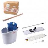 Набор для уборки VILEDA 'УльтраСпидМини': держатель, МОП 602119, черенок, ведро с отжимом, дозатор, 143566