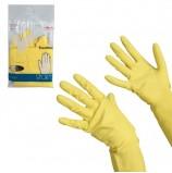 Перчатки хозяйственные резиновые VILEDA 'Контракт' с х/б напылением, размер XL (очень большой), желтые, 102588