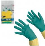 Перчатки хозяйственные латексные VILEDA с х/б напылением, особо прочные (неопрен), размер XL (очень большой), 120270