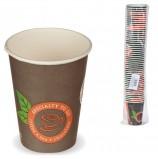 Одноразовые стаканы 300 мл, КОМПЛЕКТ 50 шт., бумажные однослойные, цветная печать, холодное/горячее, ХУХТАМАКИ