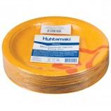 Одноразовые тарелки диаметр 230 мм, КОМПЛЕКТ 50 шт., КАРТОН, холодное/горячее, ХУХТАМАКИ 'Whizz'