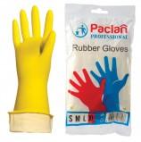 Перчатки хозяйственные резиновые PACLAN 'Professional', с х/б напылением, размер XL (очень большой), желтые