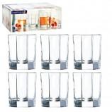 Набор стаканов для сока и виски, 6 шт., 300 мл, низкие, стекло, Octime, LUMINARC, H9810