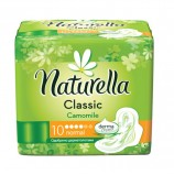 Прокладки женские гигиенические NATURELLA (Натурелла) Classic Camomile Normal, КОМПЛЕКТ 10 шт.
