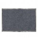 Коврик входной ворсовый влаго-грязезащитный ЛАЙМА/ЛЮБАША, 90х120 см, ребристый, толщина 7 мм, серый, 602872