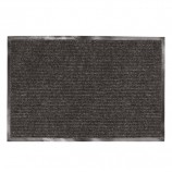 Коврик входной ворсовый влаго-грязезащитный ЛАЙМА/ЛЮБАША, 90х120 см, ребристый, толщина 7 мм, черный, 602874