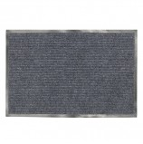 Коврик входной ворсовый влаго-грязезащитный ЛАЙМА, 120х150 см, ребристый, толщина 7 мм, серый, 602875