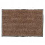 Коврик входной ворсовый влаго-грязезащитный ЛАЙМА, 120х150 см, ребристый, коричневый, 602876