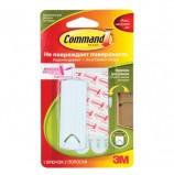 Крючок самоклеящийся COMMAND для рамок с веревочными петлями, легкоудаляемый, белый, до 2 кг, 17041