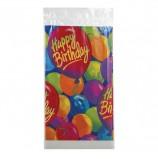 Скатерть полиэтилен, 140х260 см, шары 'С днем рождения', 1502-0522