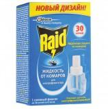 Средство от насекомых жидкость для фумигатора RAID (Рейд), 30 ночей, сменный блок, 643866