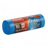 Мешки для мусора 160 л, синие, в рулоне 10 шт., ПВД, 21 мкм, 120х87 см, PACLAN 'Big&Strong', 402001