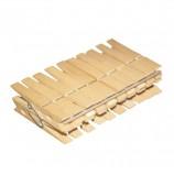 Прищепки бельевые деревянные, комплект 20 шт., универсальные, YORK 'Eco', 96050