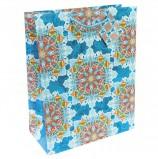 Пакет подарочный ламинированный, 17,8х22,9х9,8 см, 'Яркий калейдоскоп', 140 г/м2, 75296