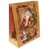Пакет подарочный ламинированный, 26х32,4х12,7 см, 'Мешок с подарками', 140 г/м2, 75318