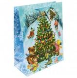 Пакет подарочный ламинированный, 26х32,4х12,7 см, 'Новогодние гуляния', 140 г/м2, 75327