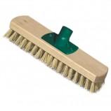 Щетка для уборки (скраббер), ширина 23 см, щетина 2,5 см, деревянная, крепление еврорезьба, YORK, 300
