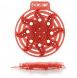 Коврики-вставки для писсуара, ЭКОС (POWER-SCREEN), на 30 дней каждый, комплект 2 шт., аромат 'Дыня', цвет красный, PWR-10R