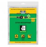 Сетка москитная 1,5 м х 1,5 м для оконных проемов, с крепежом, белая, в пакете NADZOR, MSN015P