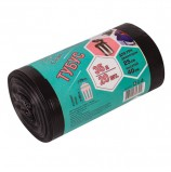 Мешки для мусора 35 л, черные, в рулоне 20 шт., ПВД, 25 мкм, 42х70 см, для урн, d - 25, h - 40, КОНЦЕПЦИЯ БЫТА 'Tubus', 3217