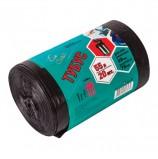 Мешки для мусора 55 л, черные, в рулоне 20 шт., ПВД, 25 мкм, 45х100 см, для урн, d - 28 см, h - 76 см, КОНЦЕПЦИЯ БЫТА 'Tubus', 3279