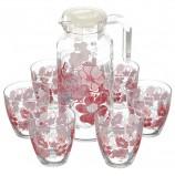 Набор столовый, 7 предметов, кувшин 1300 мл + 6 стаканов 285 мл, 'Red Dream', PASABAHCE, 95972BD1
