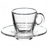 Набор кофейный на 6 персон (6 чашек объемом 72 мл, 6 блюдец), стекло, 'Aqua', PASABAHCE, 95756
