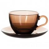 Набор чайный, на 6 персон (6 чашек объемом 238 мл, 6 блюдец), тонированное стекло, PASABAHCE, 97948УБ