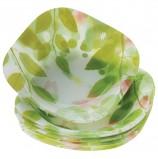 Набор тарелок, 18 шт., цветное стекло, с рисунком, 'Workshop Butterflies', PASABAHCE, 96464УБ