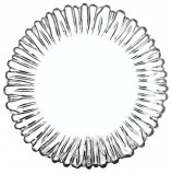 Набор тарелок, 6 шт., диаметр 205 мм, фигурное стекло, 'Aurora', PASABAHCE, 10512